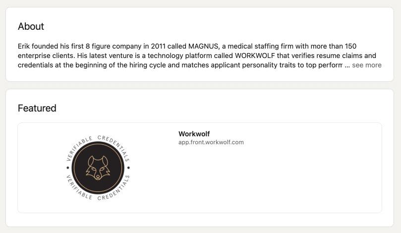 LinkedIn Workwolf badge